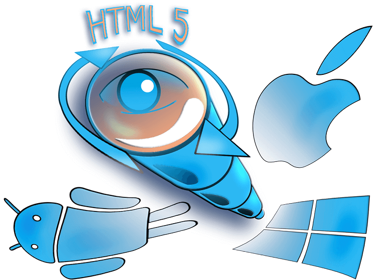 picture showing symbols for developing native apps with HTML5